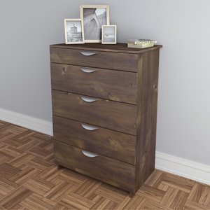 Nexera Nocce 5-Drawer Chest - Truffle