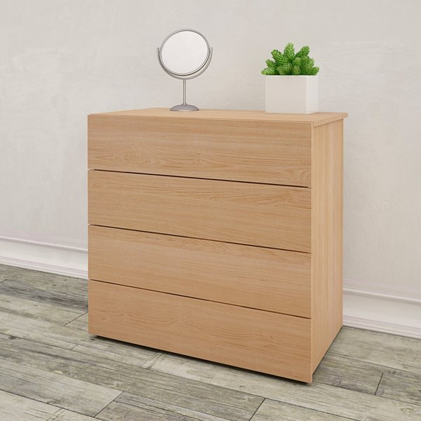 Nexera 4-Drawer Chest - Natural Maple - 32""