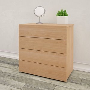 Nexera 4-Drawer Chest - Natural Maple