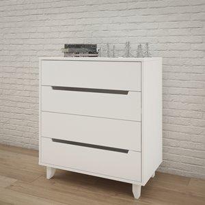Nexera 4-Drawer Chest - White