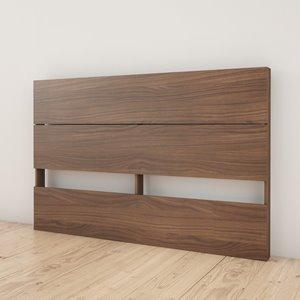 Nexera Queen Size Plank Effect Headboard - Walnut
