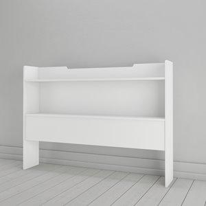 Tête de lit rangement double Nexera, blanc