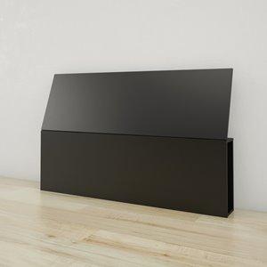 Tête de lit grand format Nexera, noir