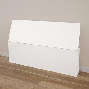 Tête de lit grand format Nexera, blanc