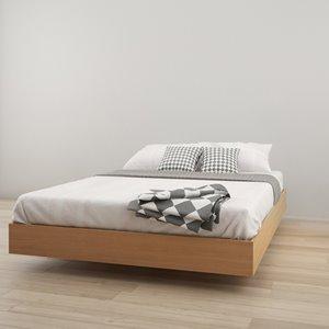 Nexera Queen Size Platform Bed - Natural Maple