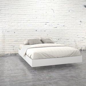 Nexera Queen Size Platform Bed - White