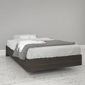 Nexera Ebony 76-in x 41.13-in Twin Size Platform Bed