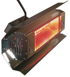Wall Mounted Infrared Patio Heater - Black
