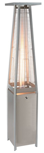 Paramount Glass Stainless Steel Propane Patio Heater