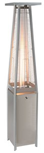 Glass Propane Patio Heater - Stainless Steel