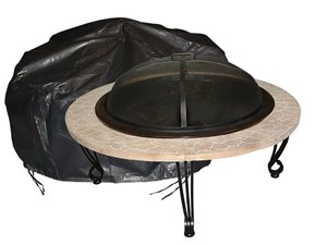 Outdoor Round Firepit Cover - Black