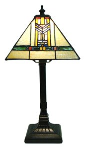 Tiffany Style Mission Table Lamp - 7