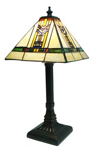 Lampe de table Mission, style Tiffany, 7