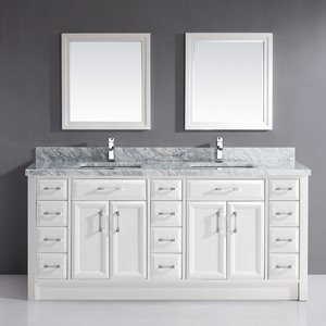 Vanité Calumet, comptoir en marbre, 75