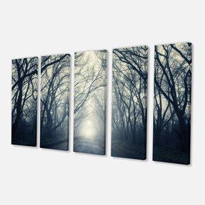 Foggy Autumn Forest Canvas Print - 28