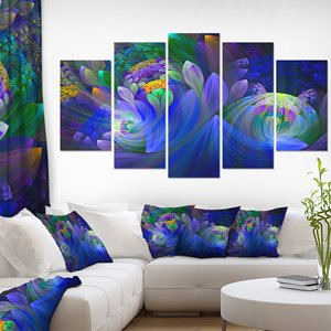 Fractal Flower Canvas Print - 60