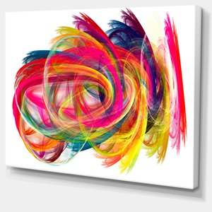 Colorful Thick Strokes - Print On Canvas - 30