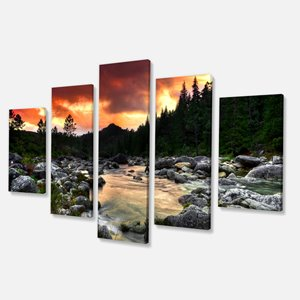 Wall Art - Rocky Mountain Sunset - 60
