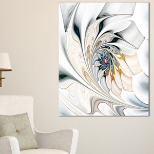 White Stained Glass Canvas Print - 40
