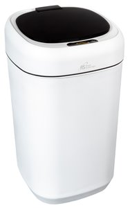 Corbeille capteur de mouvement Royal Sovereign, 9 l, blanc