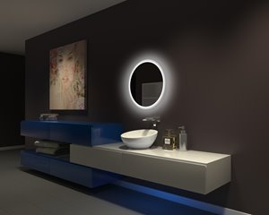 Mirror with LED Lighting - 24