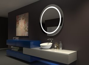 Mirror with LED Lighting - 44