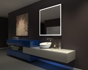 Mirror with LED Lighting - 42