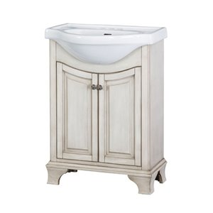 Corsicana 24-in Antique White Bathroom Vanity with China Top