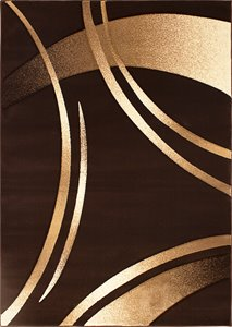 Tapis Reflections de la collection Luminance, brun, 8'x11'