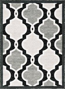 Tapis Illian, 2' x 8', noir