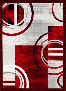 Tapis Nicole de la collection Luminance, rouge, 5'x8'