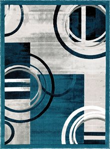 Tapis Ariana de la collection Luminance, bleu foncé, 2'x8'