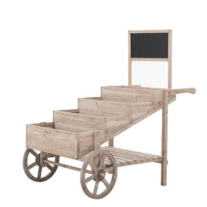 Chariot en bois Sunjoy, brun