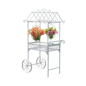Sunjoy Flower Cart - 55''- White
