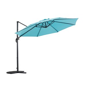 Sunjoy Outdoor Hanging Umbrella - Blue