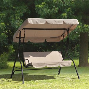 Sunjoy Exterior Swing with Canopy - Tan