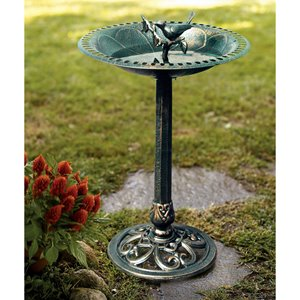 Sunjoy Pedestal Bird Bath - 31