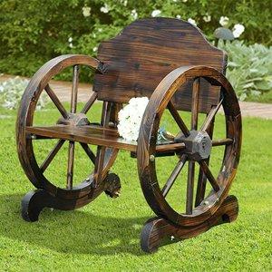 Chaise en bois rustique de Sunjoy ,  sapins de Chine