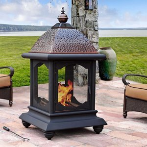 Sunjoy Outdoor Meridian Fireplace - 56