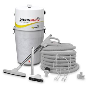 Central Vacuum - Large Capacity - 41 L - with Accessory Kit
