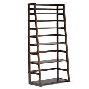 Acadian Ladder Bookcase - 5-Shelves - Tobacco Brown