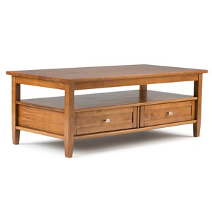 Warm Shaker Coffee Table - Honey Brown