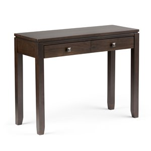Cosmopolitan Console Sofa Table - Coffee Brown