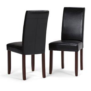 Chaises de salle à manger Acadian, 2 mcx, noir