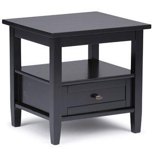Warm Shaker End Table - Black