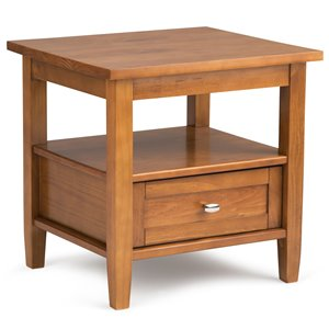 Warm Shaker End Table - Light Honey Brown