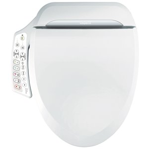 Clean Touch Electronic Bidet Toilet Seat - Round - White