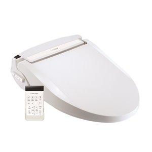 Clean Touch Electronic Bidet Toilet Seat - Round – White