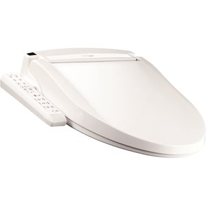 Clean Touch Electronic Bidet Toilet Seat - Elongated - White