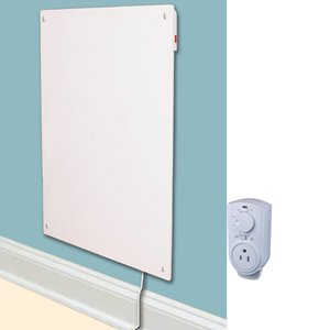 Panneau mural chauffant avec thermostat, céramique, 600 W